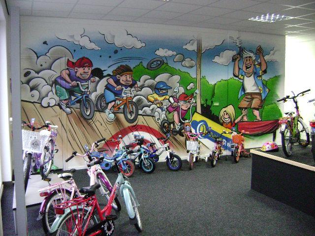 winkel-muurschildering